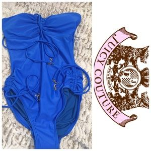 Juicy Couture Swimsuit  Blue One Piece Swimwear